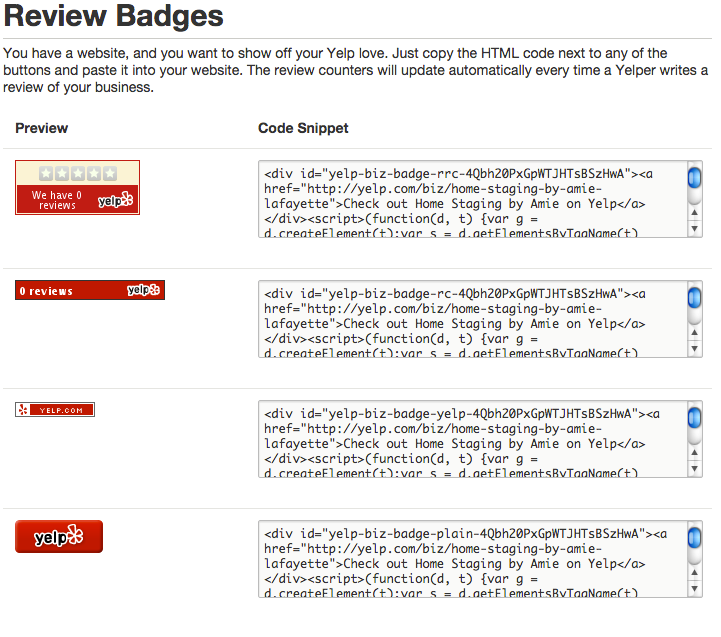 yelp review badges