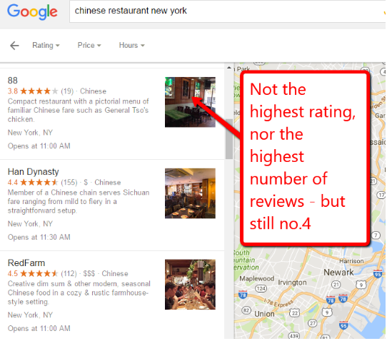 reviews in google