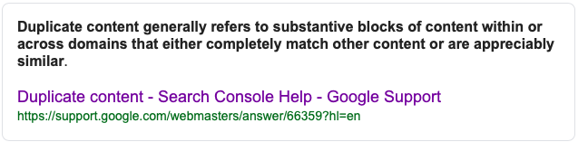 Google's Stand on Duplicate Content