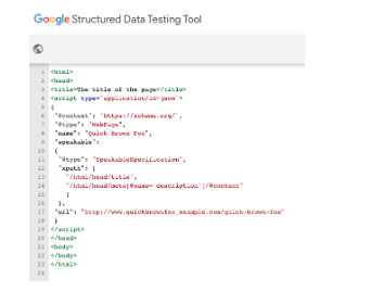 Google Structured Data Testing Tool - Optimizing Your Local SEO With Rich Results